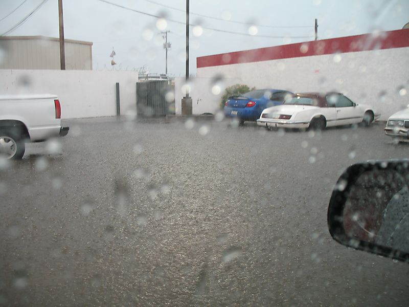 Parking lot flood